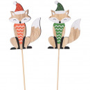 Wood FuchsJoona, to stick, height 8cm, 2 colors s